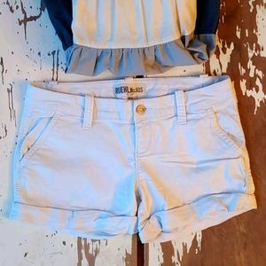Heavy On The Beachy Vibes Preppy Roll Cuff Shorts